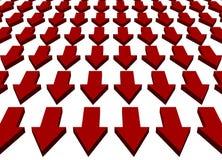 Downward Trend Business Concept Background. Downward Trend Business Concept on White Background royalty free illustration