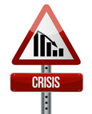 Downward trend concept crisis illustration design Royalty Free Stock Images
