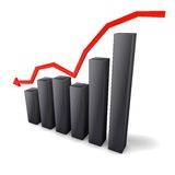 The stock market in decline Royalty Free Stock Photography