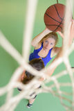 Downward view basketball player Stock Photos