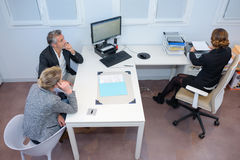 Downward view business meeting Stock Image