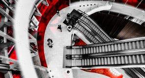 Downward view of escalators in Revel Casino Hotel, in Atlantic C Stock Photos