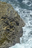 Downwards at a Ocean. Looking down at ocean waves Royalty Free Stock Photo