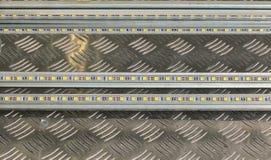 Dowodzeni pasków światła na metalu talerzu Zdjęcia Royalty Free