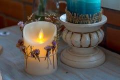 DOWODZONA świeczka dekorująca w domu Obraz Royalty Free