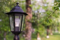 DOWODZONA latarnia uliczna Retro stylowy lampion z nowożytną oświetleniową technologią Obrazy Royalty Free