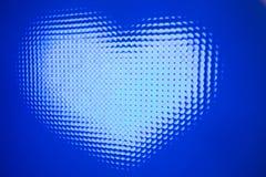 Dowodzone diody - serce zdjęcia stock