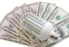 Dowodzony światło i dolary Obraz Royalty Free