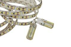 Dowodzony lampas i lampy Fotografia Stock