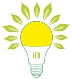 Dowodzony lampy ECO energii pojęcie Ilustracji