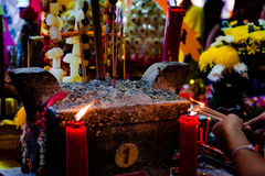 Dowry ceremony at Chinese Hungry Ghost festival (Por Tor) at old Stock Photography