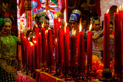 Dowry ceremony at Chinese Hungry Ghost festival (Por Tor) at old Royalty Free Stock Photography