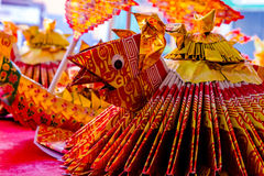 Dowry ceremony at Chinese Hungry Ghost festival (Por Tor) at old Royalty Free Stock Photos