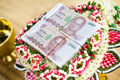 Dowry for the wedding ceremony. Culture of Thailand Stock Photos
