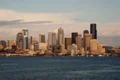 Dowtown西雅图地平线 免版税库存图片