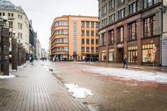 Dowtown av Riga, Lettland Royaltyfri Fotografi