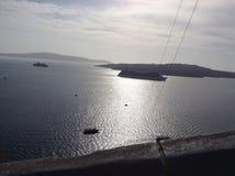 Dowtown de vue de Santorini Photographie stock