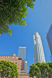Dowtown Los Angeles. Buildings during a sunny day Royalty Free Stock Photo