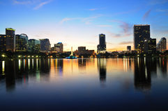 Dowtown Orlando, FL at Twilight Royalty Free Stock Images
