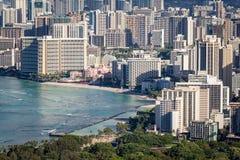 Dowtown Waikiki miasto Obrazy Stock