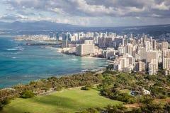 Dowtown Waikiki miasto Zdjęcia Royalty Free