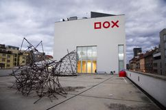 DOX-galerij - Praag Royalty-vrije Stock Foto's