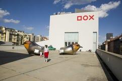 DOX-galerij - Praag stock afbeeldingen