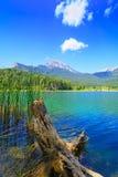 Doxa lake and Ziria mountains Royalty Free Stock Images