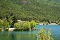 Doxa sjö, Grekland Arkivfoto
