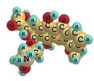 Doxorubicin molecule  on white Stock Photos