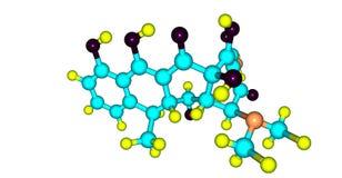 Doxycyclin-Molekülstruktur lokalisiert auf Weiß vektor abbildung
