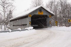 Doyle Road Bridge Winter. Doyle Road covered bridge in winter Stock Image