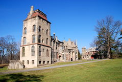 Doylestown, PA: Historic Fonthill Mansion. Historic 1910 Fonthill Mansion, the unique, concrete home of the eccentric archeologist Henry Chapman Mercer, founder Royalty Free Stock Photo