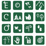 Doze ícones da ecologia Foto de Stock Royalty Free
