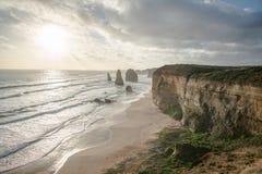 Doze apóstolo, grande estrada do oceano, Victoria, Austrália imagens de stock