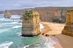 Doze apóstolos ao longo da grande estrada do oceano, Victoria Imagens de Stock