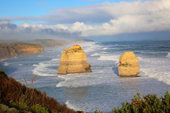Doze apóstolos, Austrália Fotos de Stock