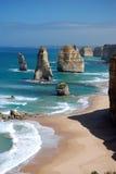 Doze apóstolos na grande estrada do oceano Fotografia de Stock