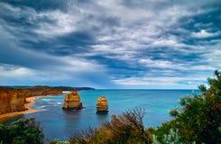 Doze apóstolos na grande estrada do oceano imagens de stock
