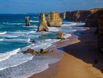 Doze apóstolos pela grande estrada do oceano Fotografia de Stock Royalty Free