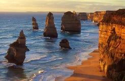 Doze apóstolos, Sul da Austrália Imagens de Stock