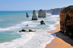 Doze apóstolos na grande estrada do oceano, Austrália Fotos de Stock Royalty Free