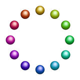 Doze bolas coloridas Imagem de Stock Royalty Free