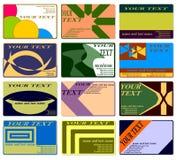 Doze cartões. Foto de Stock Royalty Free