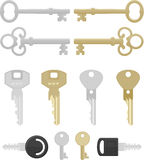 Doze chaves Imagens de Stock Royalty Free