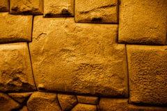 Doze famosos a pedra angular cortou precisamente e montado perfeitamente por Incas foto de stock
