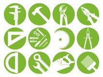 Doze ferramentas Imagens de Stock