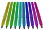 Doze marcadores destampados coloridos Foto de Stock