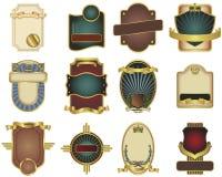 Doze moldes customizáveis da etiqueta do vetor Fotografia de Stock