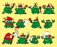 Doze râs dos desenhos animados dos direitos. Cópia para um t-shirt Ilustração do Vetor